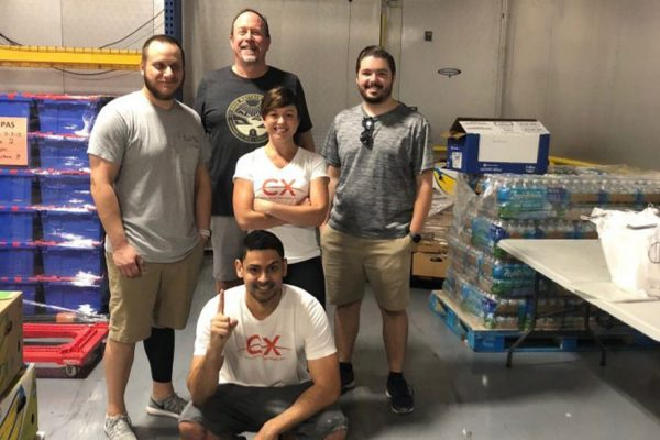 CXIS team at food bank
